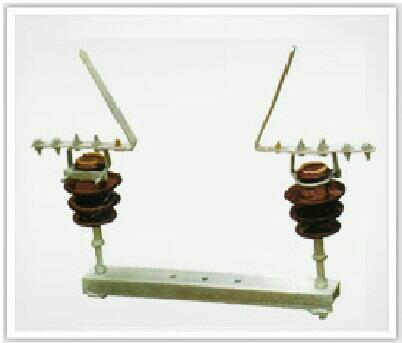 HORN GAP FUSE SET:  Powerline Engineers manufacture  Horn Gap Fuse Set with triple pole. Each pole consist of galvanized MS channel  base , H.T insulator as per B.S.S /I.S , aluminium contacts . All M.S. parts are  hot dipped galvanized.Thi - by Powerline Engineers, Aurangabad