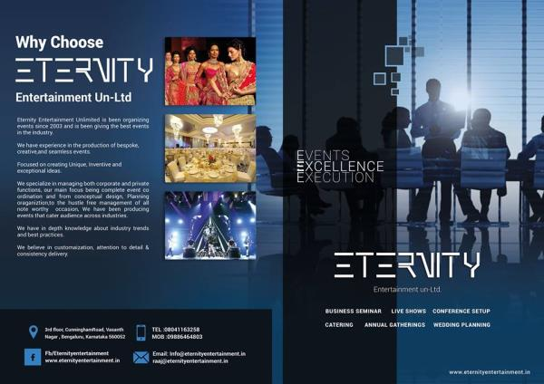 Bangalores leading events and production specialists - by Eternity entertainment unltd, Bangalore