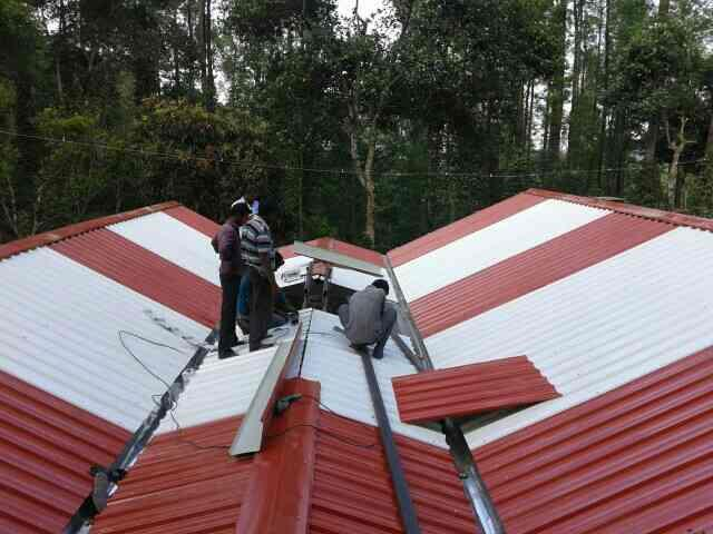 yercaud work - by Srs Colour roofing sheet, Salem