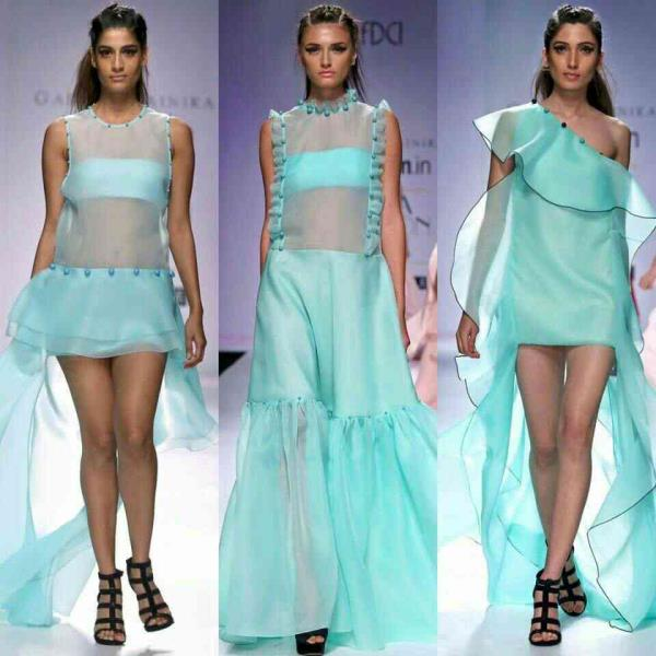 #gauriandnainika #ss2016 #runway #bkue #organza #ruffles #pearls #detailing #shoes forever 21 #dreamy #collection #ishhitaimageconsultant - by Personal Image Grooming Consultant, Delhi