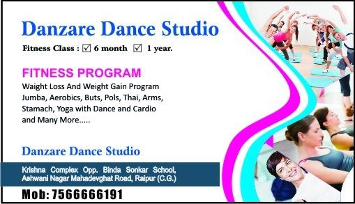 fitness classes new batch is started from 1 st nov. time morning 8:30 to 10 o'clock and evining MWF 7:30 to 9 o'clock so hurry up for ragistration for more deatil see the image thank u. - by Danzare Dance Studio, Raipur