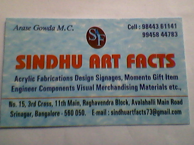 Sindhu Art Facts - logo