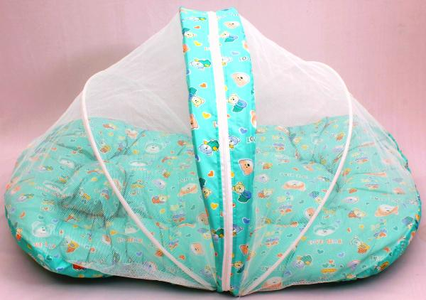 Baby Bedding Set With Mosquito Net (Zip closure)