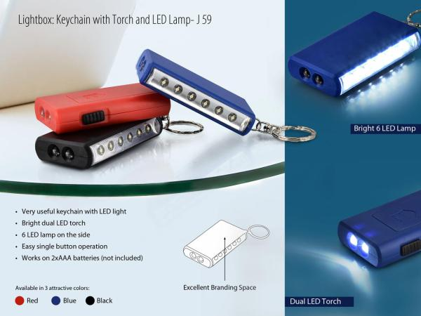 Dizinario Lightbox Keychain With Torch & LED Lamp - MEEJ591516