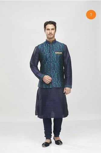 Manyavar Stylish Blue Kurta