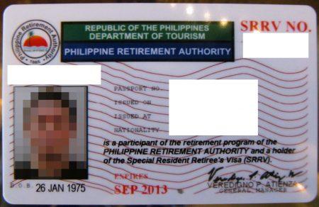 菲律宾投资退休移民签证SRRV