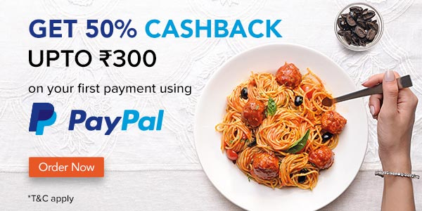 50% cashback with PayPal
