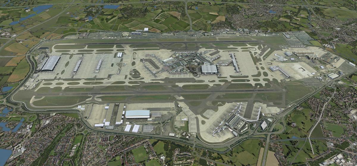UK2000 Scenery Heathrow Xtreme Updated for P3D V4 – FSElite