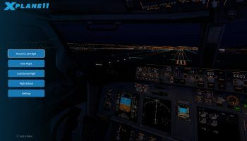 X Plane 11 User Interface Main Menu