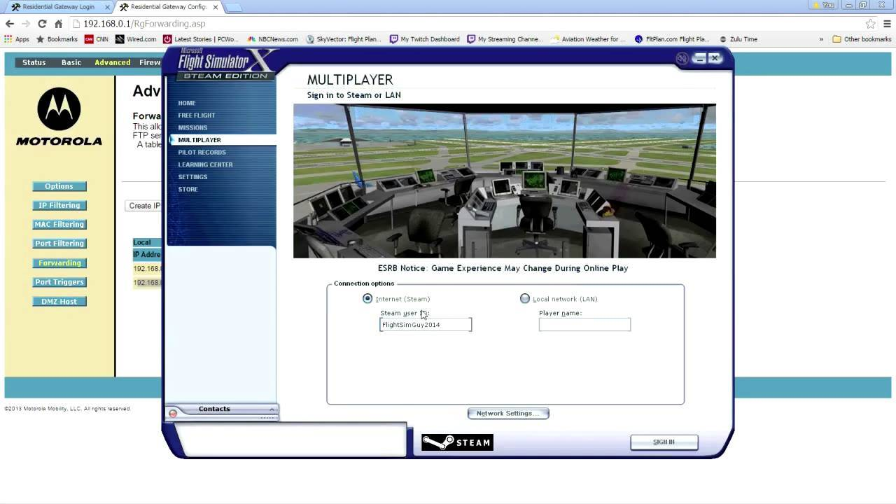 FSX Multiplayer How To Configure Your Router For Multiplayer In FSX Steam