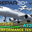 P3D V4.1 FSLabs A320 X TAXI2GATE Charles De Gaulle LFPG Performance Test