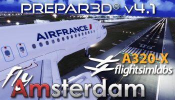 P3D V4.1 FSLabs A320 X FlyTampa Amsterdam Schiphol VATSIM Performance Test