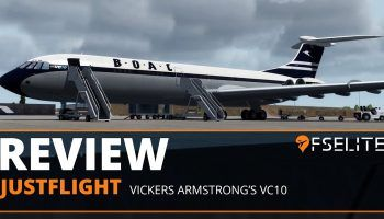 FSElite Review JustFlight Vickers Armstrongs VC10