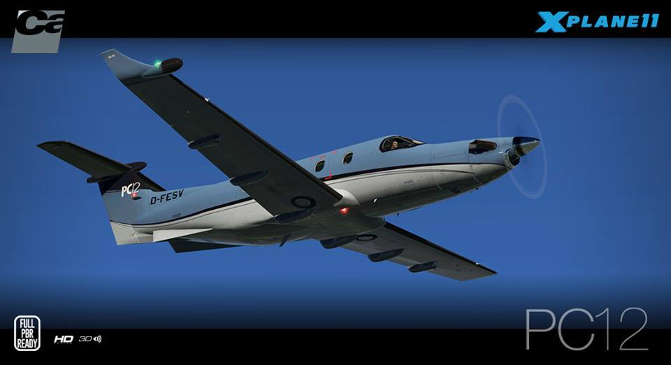 Carenado PC12 For XP11 Released – FSElite