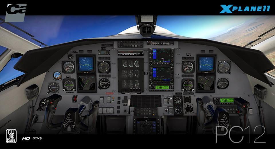 Carenado PC12 For XP11 Released – FSElite