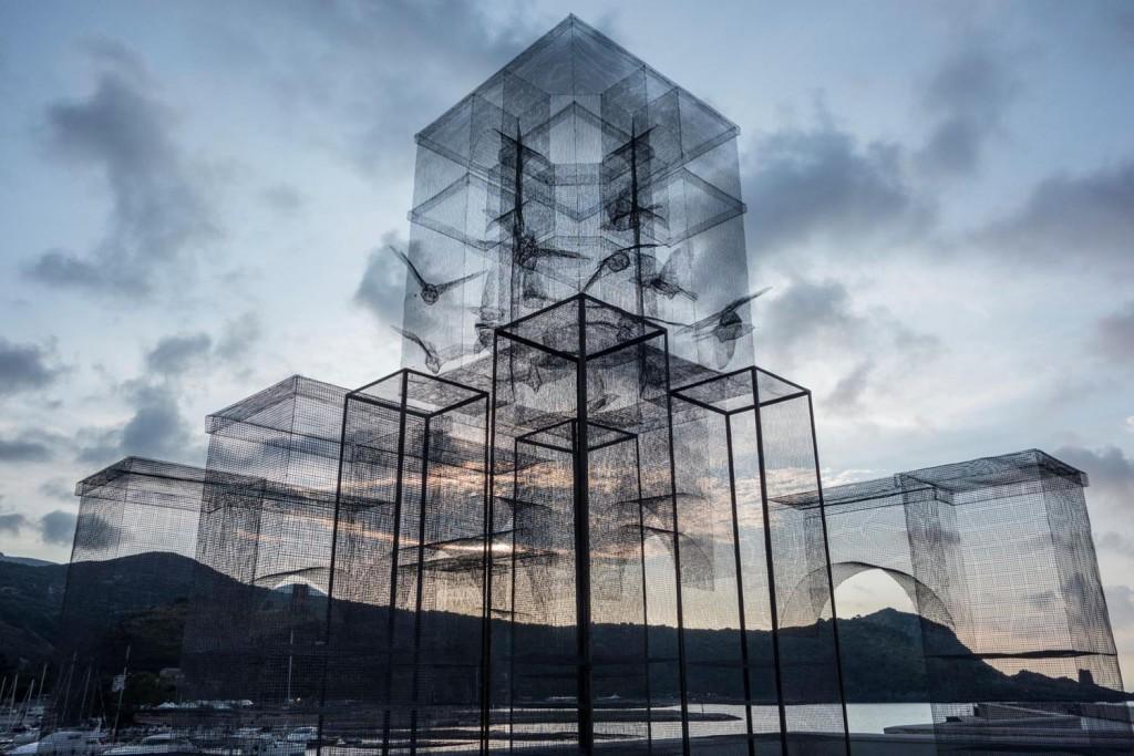 絲網裝置藝術  Edoardo Tresoldi