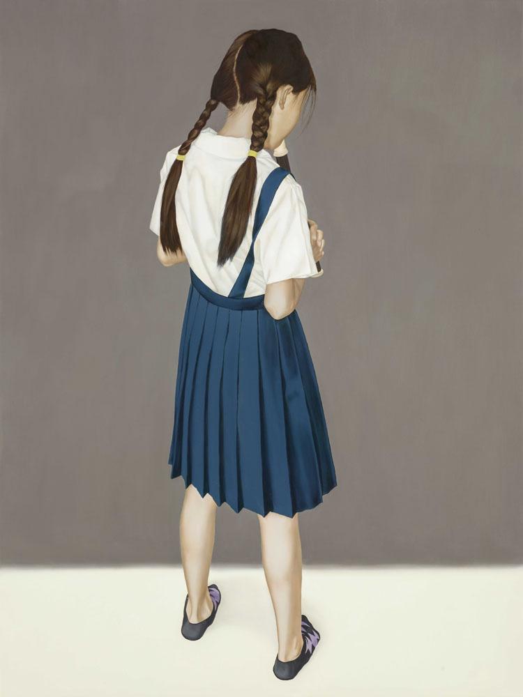 吳逸寒Wu Yih-Han_吹笛_80 x 60 cm_Oil on Canvas油彩、畫布_2015