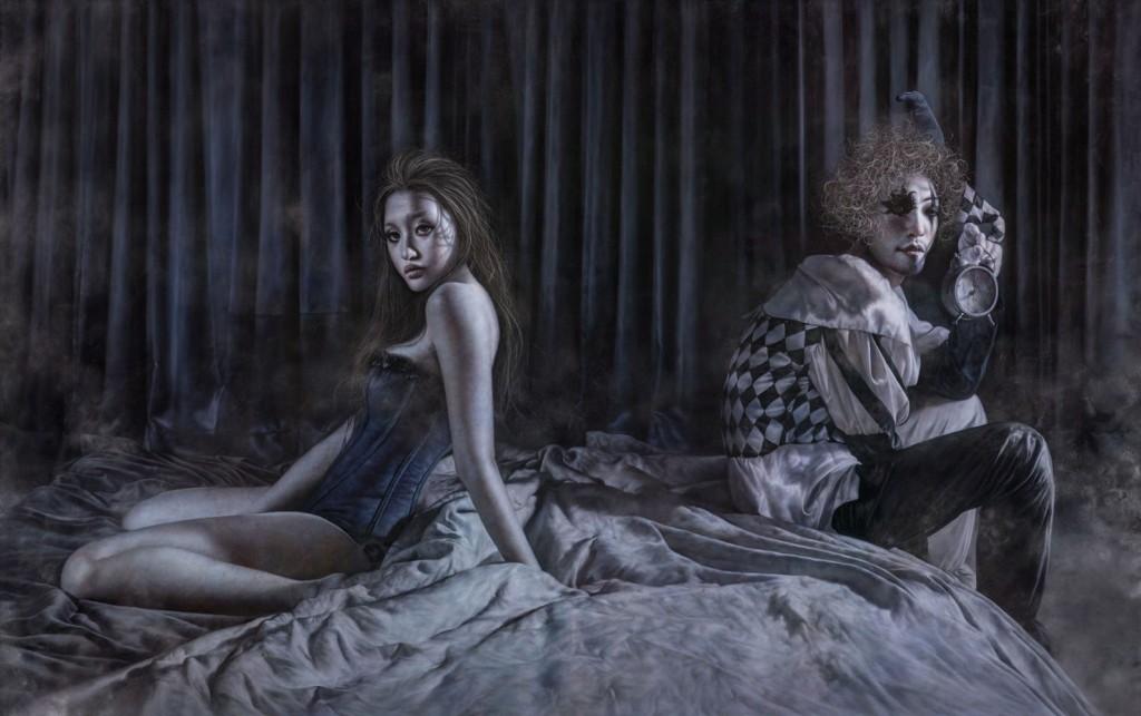 羅展鵬 Lo Chan-Peng_霧行者-起床2 Wanderer in the Mist-Awake 2_259 x 162 cm_Oil on Canvas_2015