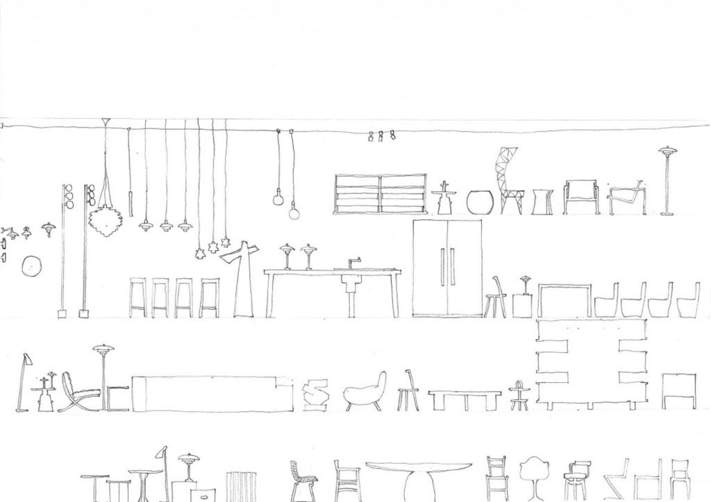 FRAMED furniture sketch_Image Courtesy Terre