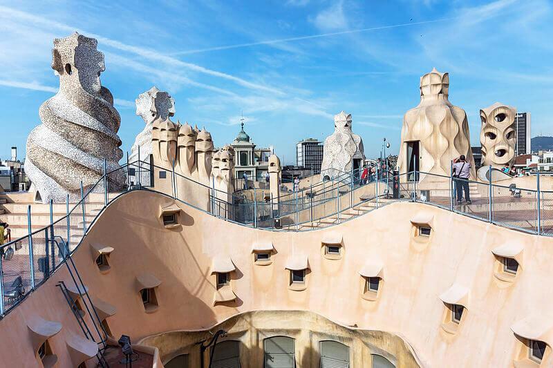 Barcelone_-_Casa_Milà_-_Toit