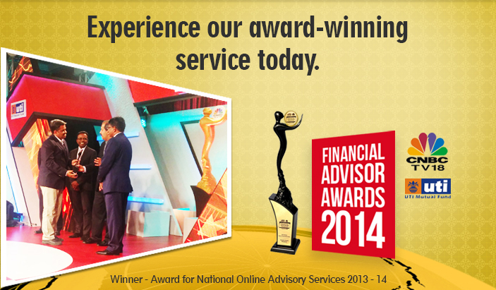FundsIndia has won the 'Award for National Online Advisory Services 2013-14'. Join our platform to experience the best.