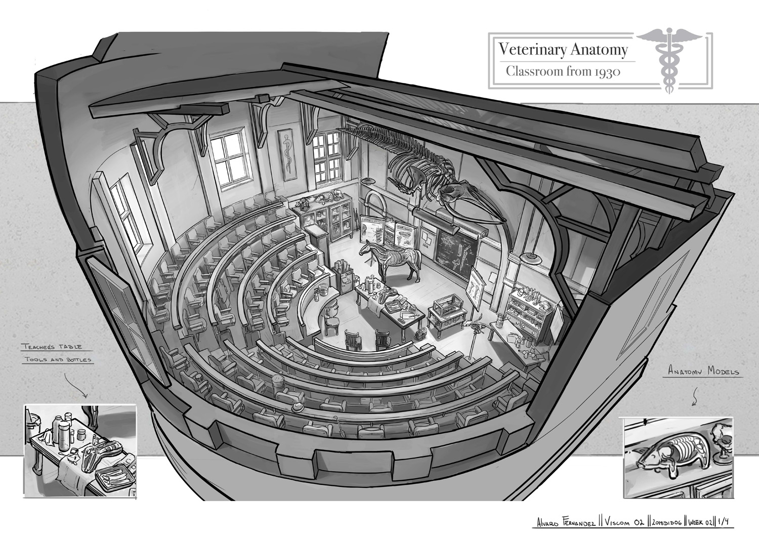 Fzd School Of Design Stair Anatomy Drawing Elements Parts Illustration Diagram For Students Learning To