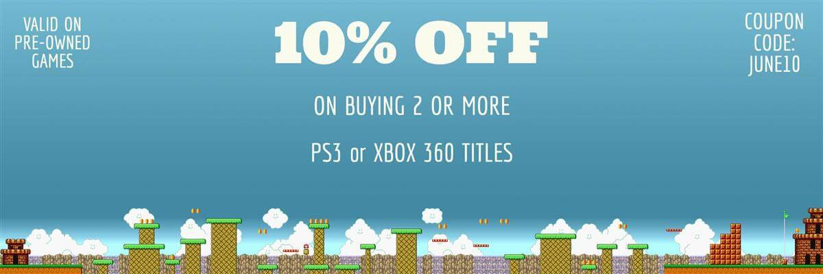 10% off on 2 or more pre-owned games