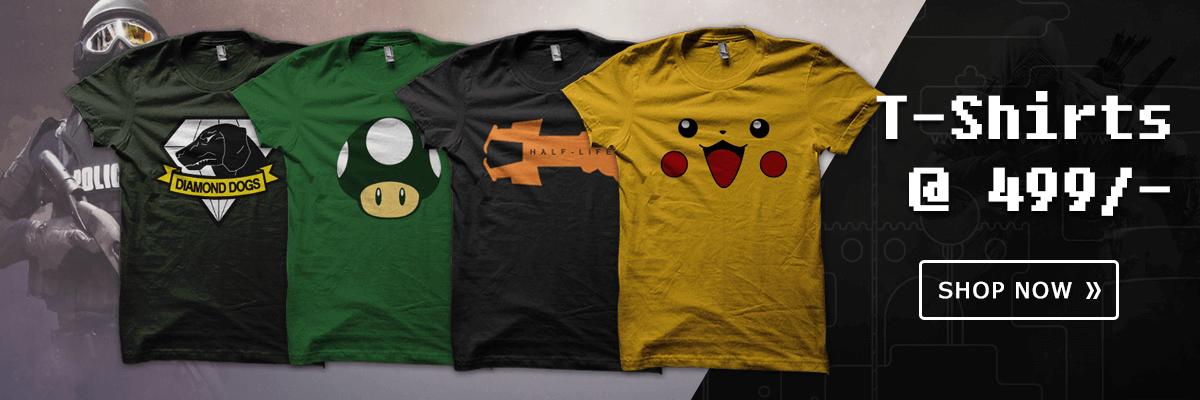 gaming tshirts at gamexs