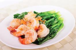 Stir-fried Vegetables w Prawns / Beef 牛肉/鲜虾扒时蔬