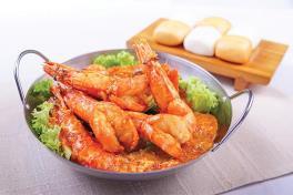 King Prawn w Singapore Famous  Chilli Sauce 辣椒炒大皇虾