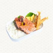 Salmon Mentai & Ebi Fry Bento