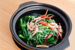 Claypot Prawn Paste Kang Kong 砂锅虾酱空心菜
