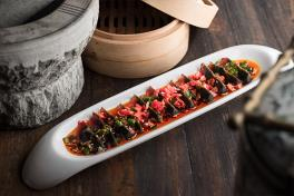 C0004 Century Egg Lace with Green Chilli