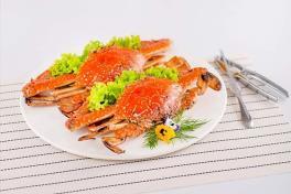 Baked Flower Crab with Rock Salt 盐香焗花蟹