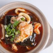 Spicy Seafood Beancurd Claypot <br> 海鮮辣豆腐煲