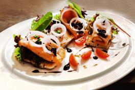 Smoked Salmon on Rye Toast