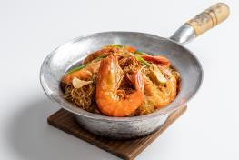 Claypot vermicelli (tang-hoon) with prawns