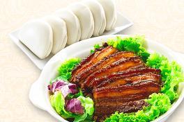 招牌扣肉包 Steamed Pork Belly Served with Bun (Kong Bah Bao)