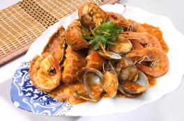 Seafood w Chilli Sauce 辣椒三鲜