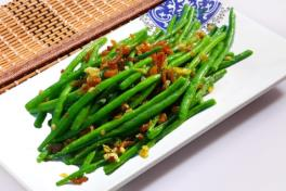 French Beans w Dried Prawn 虾米四季豆