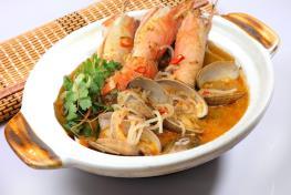 Thai Style Seafood Pot 泰式虾海鲜煲