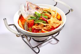 Claypot Curry Fish Head 砂煲加哩鱼头