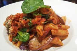 Vegetarian Penne with Eggplant