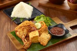 Kampung Ayam Penyet with Rice