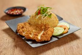 Fried Rice with Chicken Cutlet