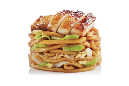 FRESH UDON <br> with Grilled Chicken