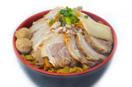 Char Siew Miso Mee Pok  (Dry)