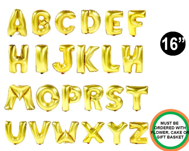 Gold Letter Balloon 16 inch