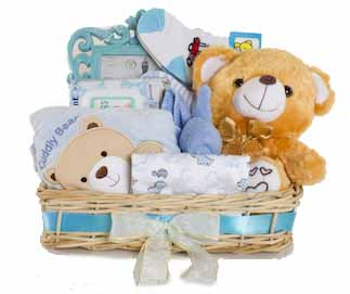 Blue Baby Basket