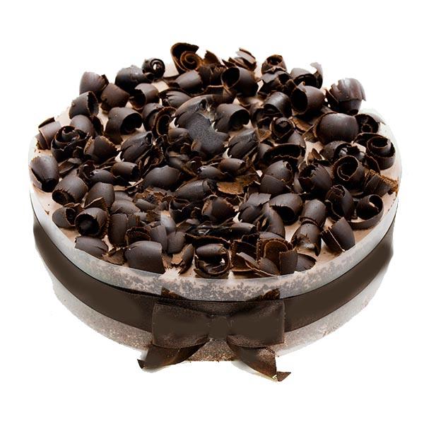 Dark Chocolate Curls Cake